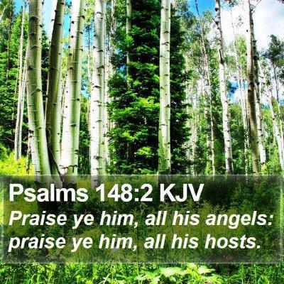Psalms 148:2 KJV Bible Verse Image