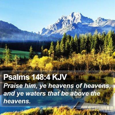 Psalms 148:4 KJV Bible Verse Image