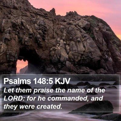 Psalms 148:5 KJV Bible Verse Image