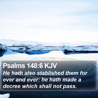 Psalms 148:6 KJV Bible Verse Image
