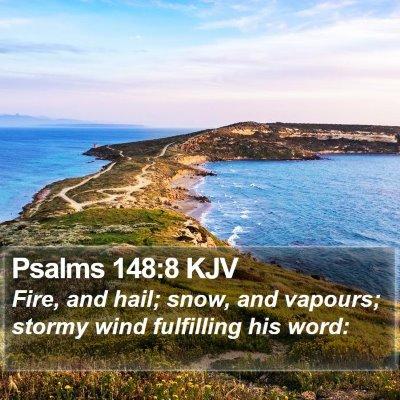 Psalms 148:8 KJV Bible Verse Image