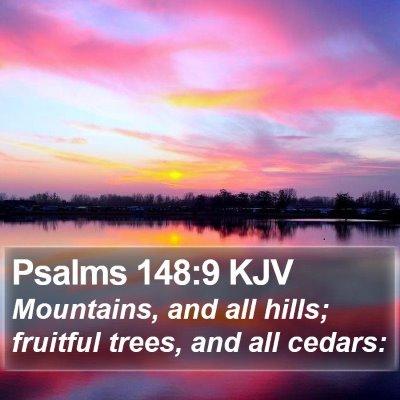 Psalms 148:9 KJV Bible Verse Image