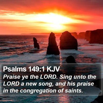 Psalms 149:1 KJV Bible Verse Image