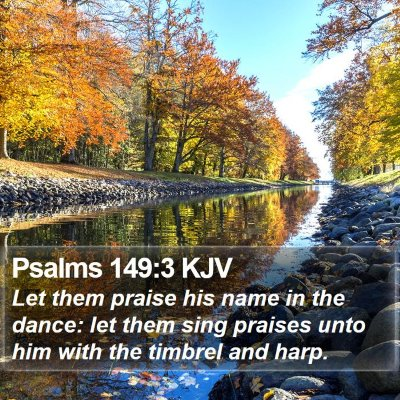 Psalms 149:3 KJV Bible Verse Image