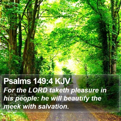 Psalms 149:4 KJV Bible Verse Image