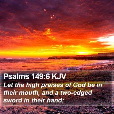 Psalms 149:6 KJV Bible Verse Image