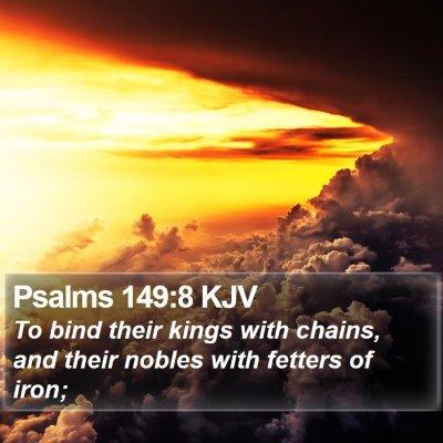 Psalms 149:8 KJV Bible Verse Image