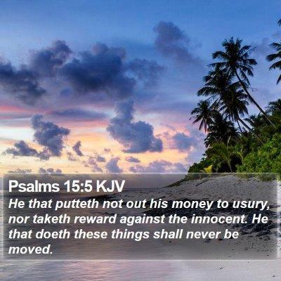 Psalms 15:5 KJV Bible Verse Image