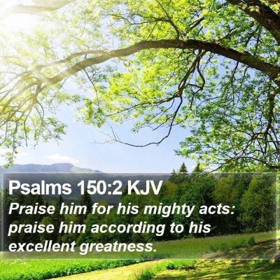 Psalms 150:2 KJV Bible Verse Image