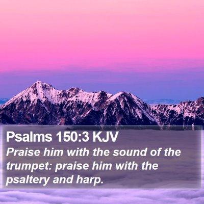 Psalms 150:3 KJV Bible Verse Image