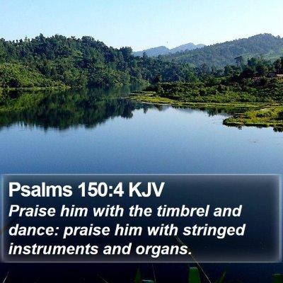 Psalms 150:4 KJV Bible Verse Image