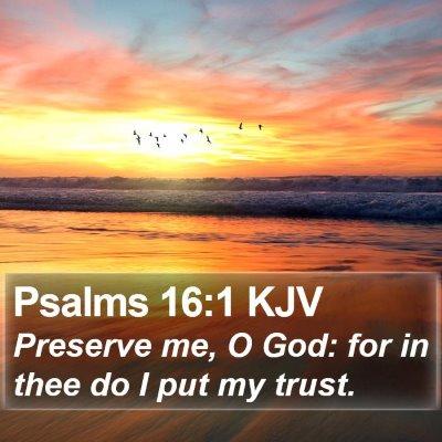 Psalms 16:1 KJV Bible Verse Image