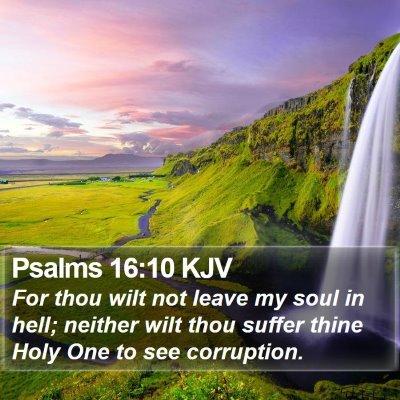 Psalms 16:10 KJV Bible Verse Image