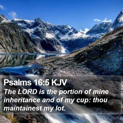 Psalms 16:5 KJV Bible Verse Image