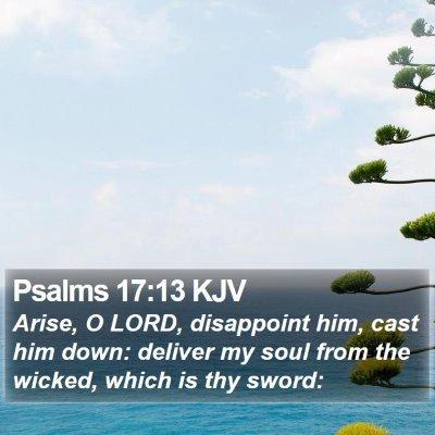Psalms 17:13 KJV Bible Verse Image