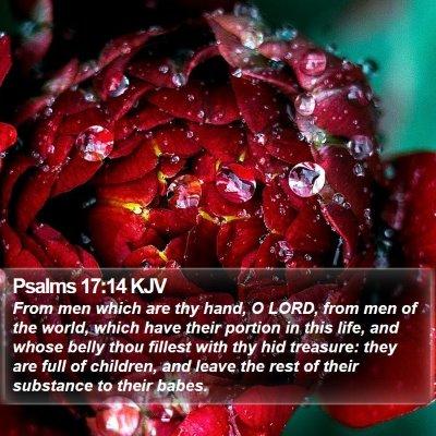 Psalms 17:14 KJV Bible Verse Image