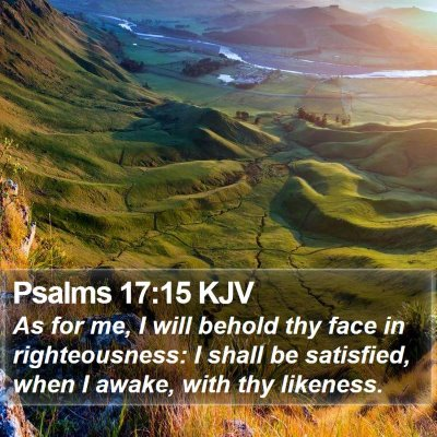 Psalms 17:15 KJV Bible Verse Image