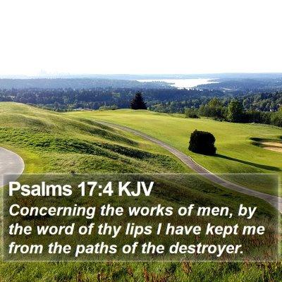 Psalms 17:4 KJV Bible Verse Image