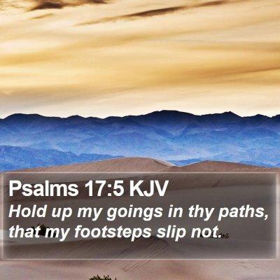 Psalms 17:5 KJV Bible Verse Image