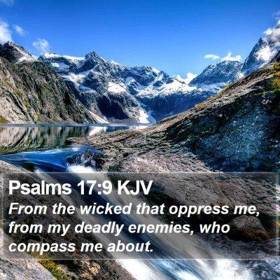 Psalms 17:9 KJV Bible Verse Image