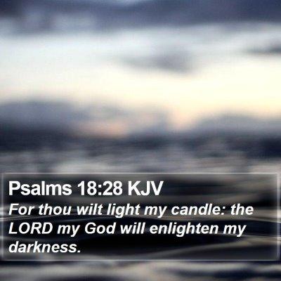 Psalms 18:28 KJV Bible Verse Image