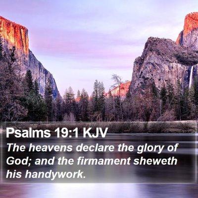 Psalms 19:1 KJV Bible Verse Image