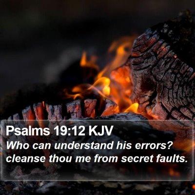 Psalms 19:12 KJV Bible Verse Image