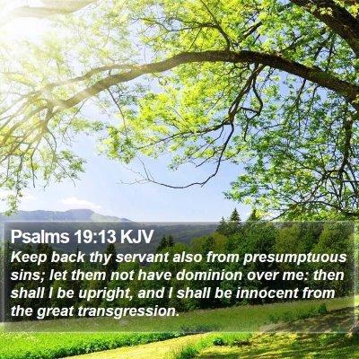 Psalms 19:13 KJV Bible Verse Image