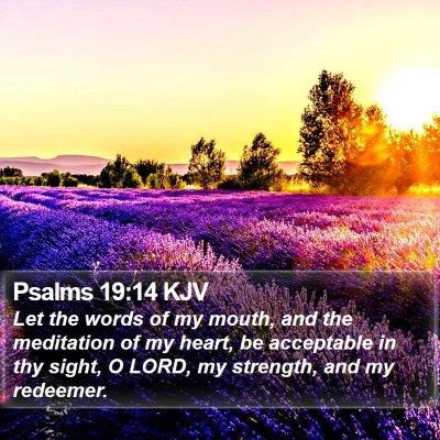 Psalms 19:14 KJV Bible Verse Image