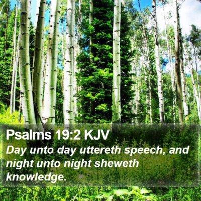 Psalms 19:2 KJV Bible Verse Image
