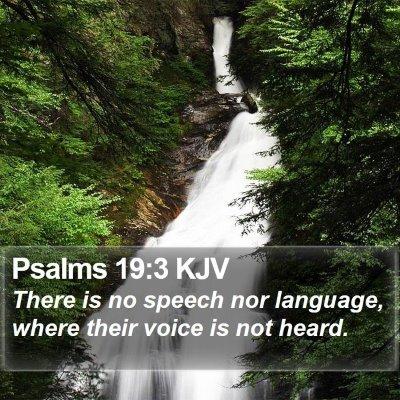 Psalms 19:3 KJV Bible Verse Image