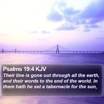 Psalms 19:4 KJV Bible Verse Image