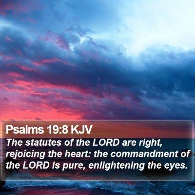 Psalms 19:8 KJV Bible Verse Image