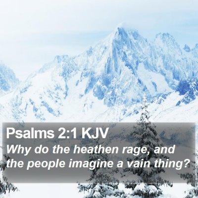 Psalms 2:1 KJV Bible Verse Image