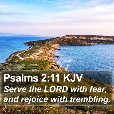 Psalms 2:11 KJV Bible Verse Image