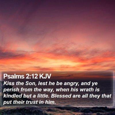 Psalms 2:12 KJV Bible Verse Image