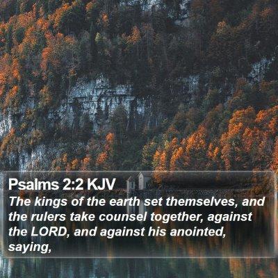 Psalms 2:2 KJV Bible Verse Image