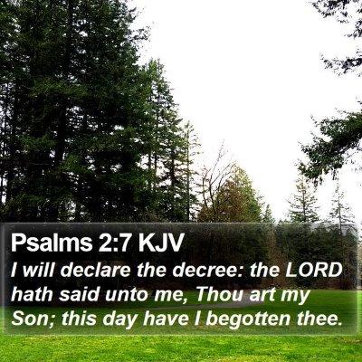Psalms 2:7 KJV Bible Verse Image