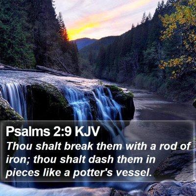 Psalms 2:9 KJV Bible Verse Image