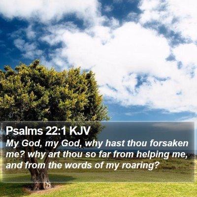 Psalms 22:1 KJV Bible Verse Image