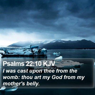 Psalms 22:10 KJV Bible Verse Image