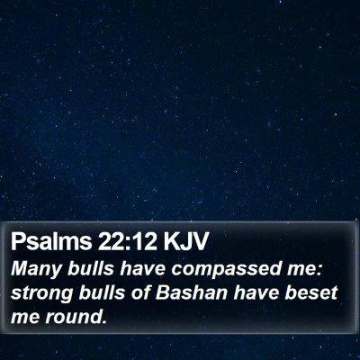 Psalms 22:12 KJV Bible Verse Image