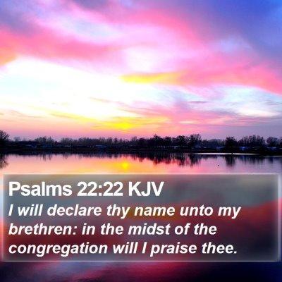 Psalms 22:22 KJV Bible Verse Image