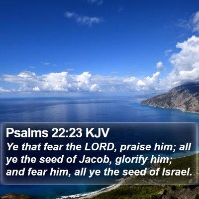 Psalms 22:23 KJV Bible Verse Image