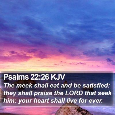 Psalms 22:26 KJV Bible Verse Image