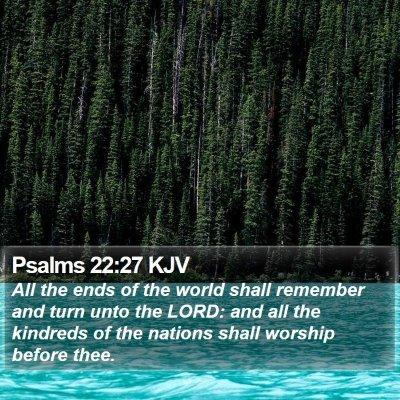 Psalms 22:27 KJV Bible Verse Image