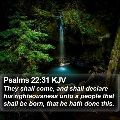 Psalms 22:31 KJV Bible Verse Image