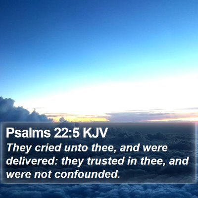 Psalms 22:5 KJV Bible Verse Image
