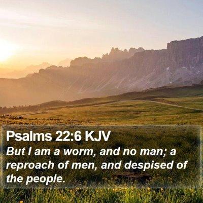 Psalms 22:6 KJV Bible Verse Image