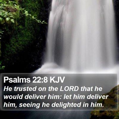 Psalms 22:8 KJV Bible Verse Image